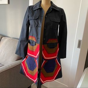 Miu Miu Abstract Spring Coat